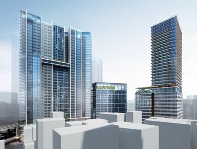 渋谷駅桜丘口地区第一種市街地再開発事業 完成予想図