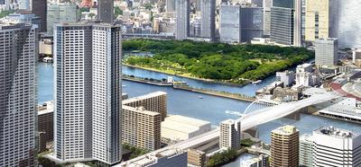 勝どき ザ・タワー(KACHIDOKI THE TOWER)の完成予想図