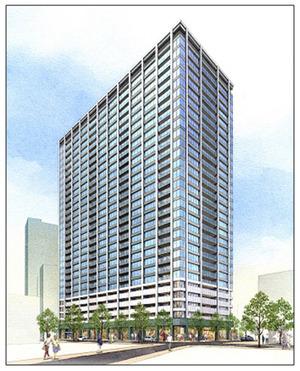 大井一丁目南第1地区第一種市街地再開発事業の完成予想図