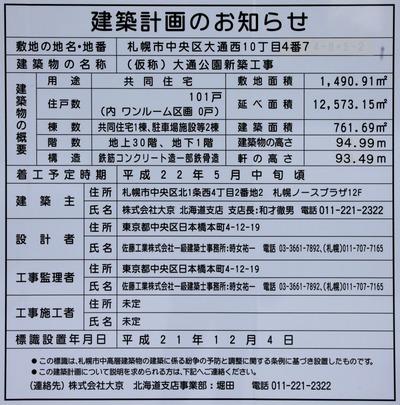 (仮称)大通公園新築工事の建築計画