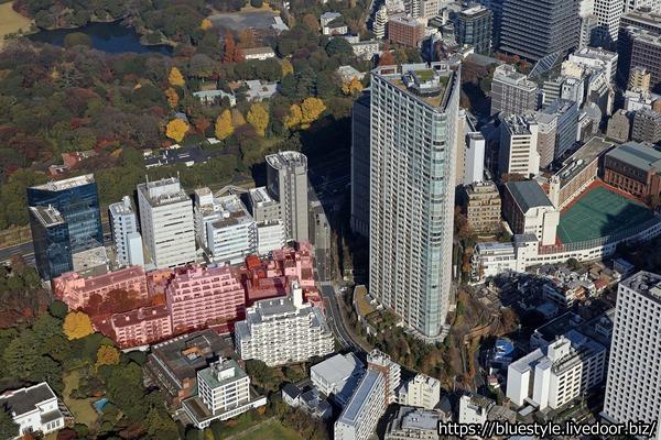 (仮称)赤坂七丁目2番地区再開発事業の空撮