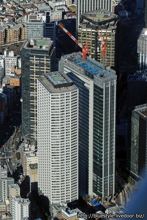 住友不動産西新宿六丁目プロジェクトの空撮