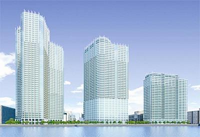 勝どき東地区第一種市街地再開発事業 完成予想パース