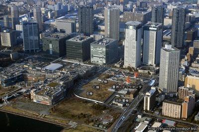豊洲二丁目駅前地区の空撮