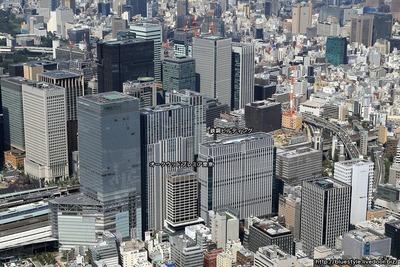 鉄鋼ビルディングの空撮