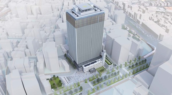 川崎市新本庁舎整備事業 完成予想図