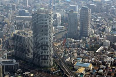 東京スカイツリーから見た曳舟のタワーマンション群