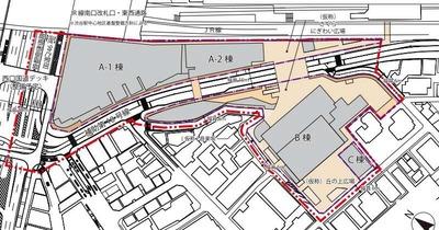 渋谷駅桜丘口地区再開発計画の計画地図