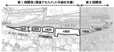 JR品川車両基地跡地開発(第�期) 計画位置図