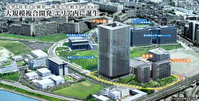 (仮称)TOKYOミライ金町大規模プロジェクトの完成予想図