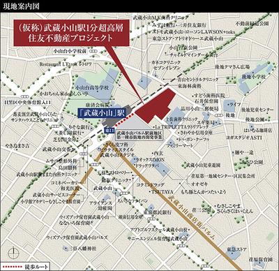 (仮称)武蔵小山駅1分超高層住友不動産プロジェクト 位置図