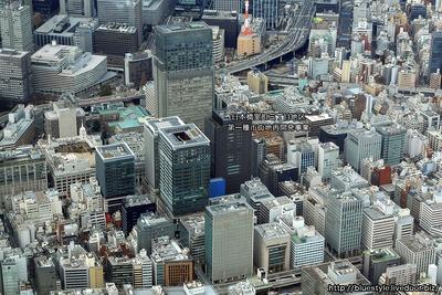 日本橋方面の空撮