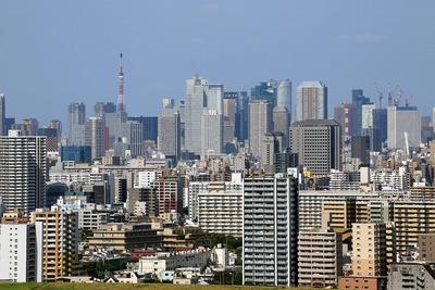 東京タワー方面の超高層ビル群