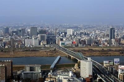 ホテル阪急インターナショナルから新大阪方面の眺め