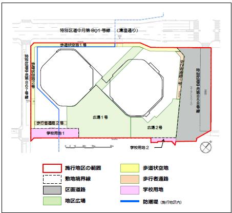 豊海地区第一種市街地再開発事業 配置図