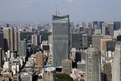 東京タワーから見た虎ノ門ヒルズ