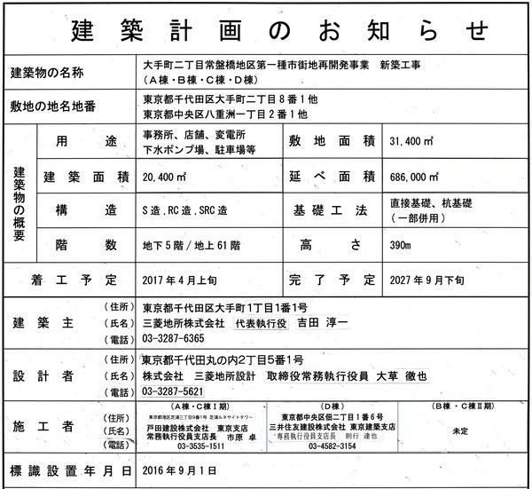 TOKYO TORCH(トウキョウ トーチ) 建築計画のお知らせ