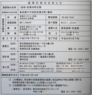 (仮称)紀尾井町計画 建築計画のお知らせ