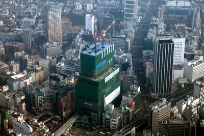 渋谷ヒカリエの空撮
