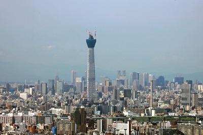 アイ・リンクタウンの無料展望台から見た東京スカイツリー