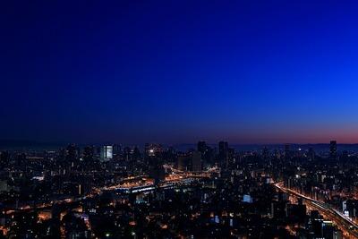 ホテル大阪ベイタワーからの朝焼け