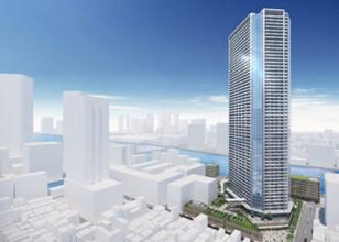 月島三丁目北地区第一種市街地再開発事業 完成イメージパース