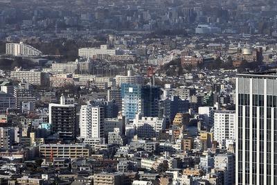 東京都庁から見たクラッシィタワー東中野