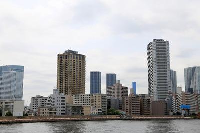 月島三丁目地区第一種市街地再開発事業方面