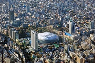 空撮 東京ドーム周辺