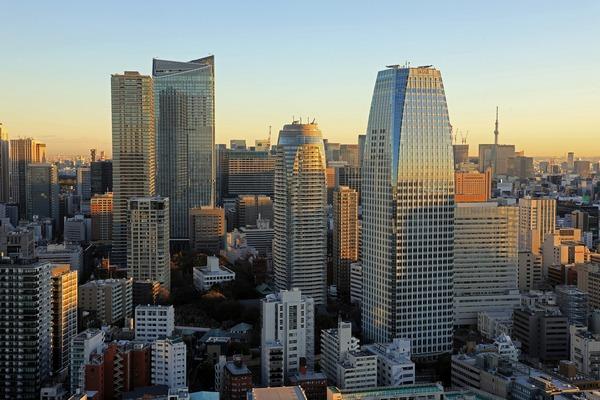 東京タワーから見た虎ノ門・愛宕方面