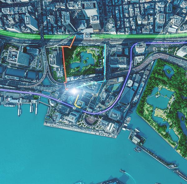 ブリリアタワー浜離宮 現地周辺航空写真