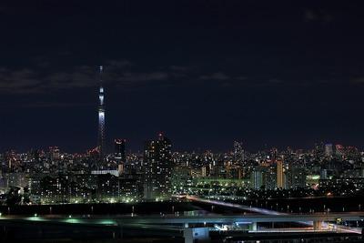 東京スカイツリー方面の夜景