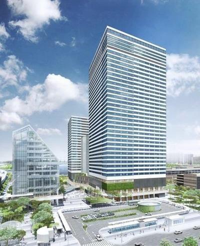 豊洲二丁目駅前地区第一種市街地再開発事業 完成予想図