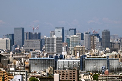 船堀から見た東京駅方面の眺め