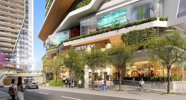 (仮称)渋谷二丁目西地区第一種市街地再開発事業 区道931号沿いの歩行者空間整備イメージ