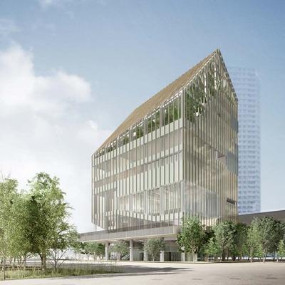 豊洲シビックセンターの完成予想CG