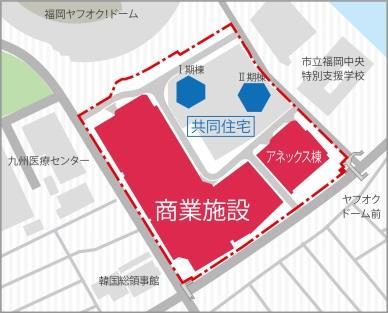 ホークスタウンモール跡地複合再開発計画 配置図