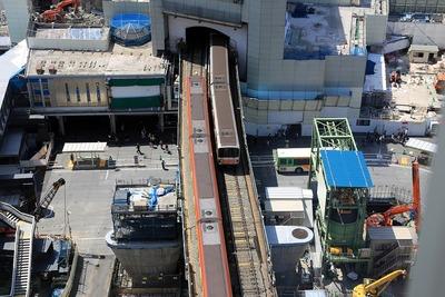 銀座線渋谷駅のホーム移設