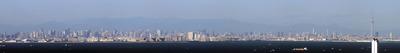 千葉ポートタワーから東京パノラマ