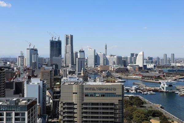 横浜マリンタワーからの眺め