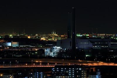 横浜ベイブリッジ方面の夜景