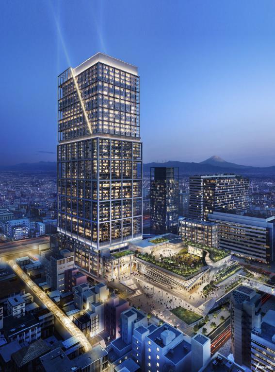 中野駅新北口駅前エリア拠点施設整備事業 建物完成予想パース
