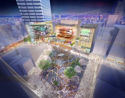 (仮称)豊島プロジェクト 建物低層部イメージ