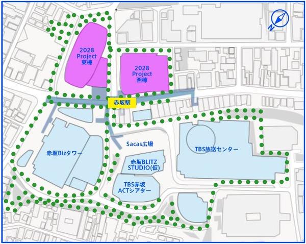 赤坂エンタテインメント・シティ 配置図