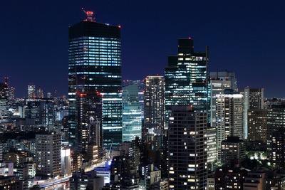 六本木三丁目東地区第一種市街地再開発事業方面の夜景