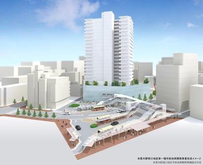本厚木駅南口地区第一種市街地再開発事業 完成予想図