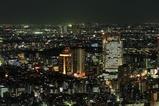 六本木ヒルズから恵比寿、武蔵小杉方面の夜景