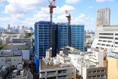 渋谷ヒカリエから見たテラス渋谷美竹