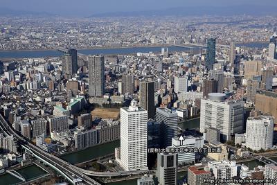 中之島、福島方面の空撮