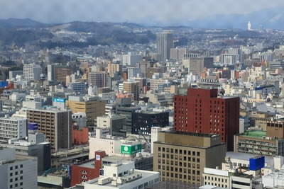 SS30から見たザ 仙台タワー 一番町レジデンス方面